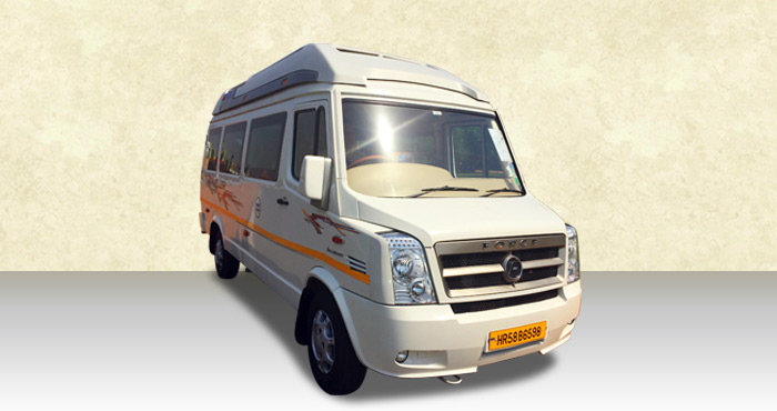 Hire Force Tempo Traveller 9+1 Seater from India Rental Cars